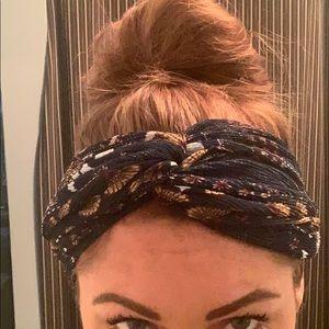 Navy boho headband
